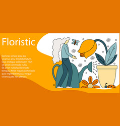 concept of floristic vector image