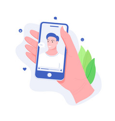 concept online chat app vector image