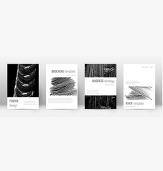 Cover page design template minimalistic brochure vector