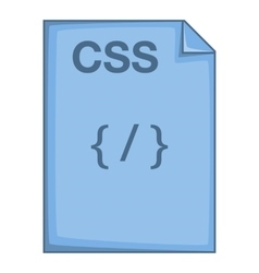 CSS file icon cartoon style vector
