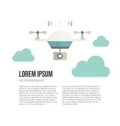 Drone card vector