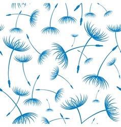Elegant seamless dandelion pattern vector