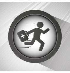 Emergency service design vector