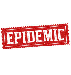 epidemic sign or stamp vector image