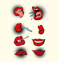 female lips set vector image