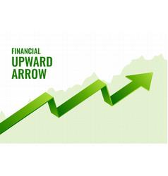 Financial incline growth upward arrow trend vector