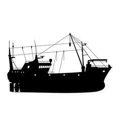 fishing trawler vector image