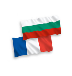 flags of france and bulgaria on a white background vector image