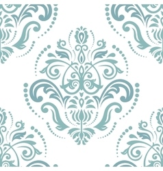 Floral Fine Seamless Green Pattern vector