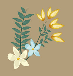 flowers decoration bunch image vector image