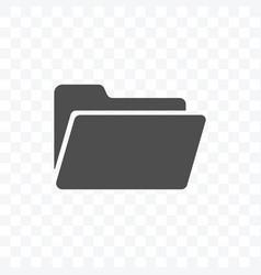 folder icon isolated on transparent background vector image