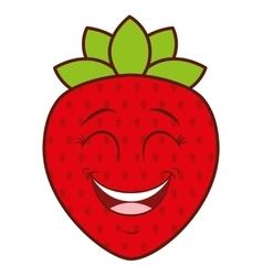 fruit character face isolated icon vector image
