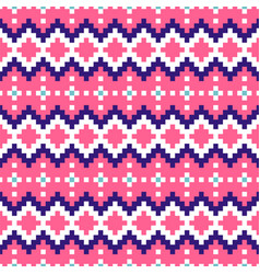 geometric seamless pink chevron pattern pixel vector image