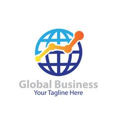 global business logo designs vector image