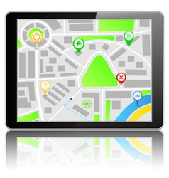 GPS Navigation System vector