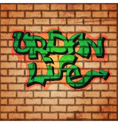 Graffiti wall background vector image