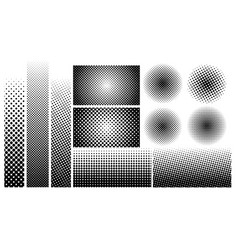Halftone dots element in collection vector