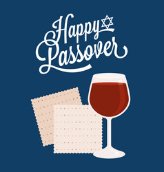 Happy passover with star of david vector