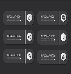 infographic buttons vector image