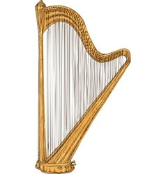 Isolated Golden Harp vector image
