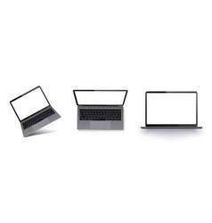 laptop with blank screen isolated on white vector image