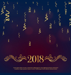 luxury style 2018 happy new year greeting with vector image