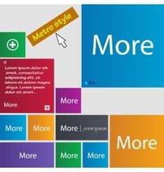 More sign icon Details symbol Website navigation vector image