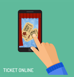 online cinema ticket order concept vector image