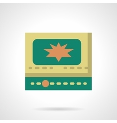 Online video flat color icon vector image