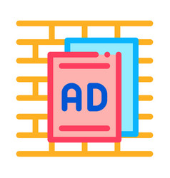 Paper advertisements icon outline vector