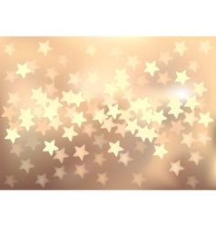 Pastel festive lights in star shape background vector