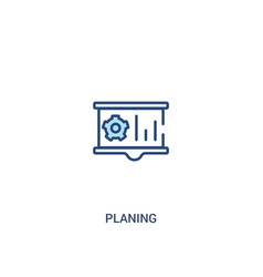 Planing concept 2 colored icon simple line vector