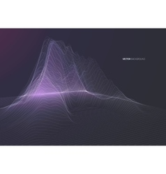 Polygon wireframe landscape background vector