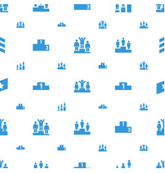 Ranking icons pattern seamless white background vector