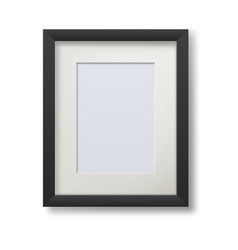 Realistic modern frame for paintings isolated on vector