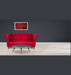red couch sofa modern dwelling interior design vector image