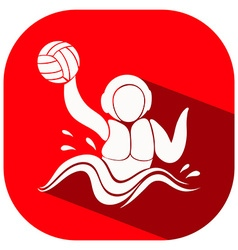 Red icon for water polo vector