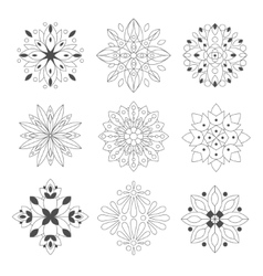 Regular Shape Doodle Ornamental Figures In vector
