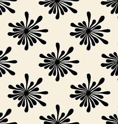 Retro black floral pattern vector