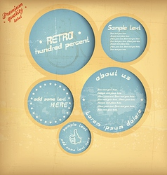 retro speech circle vector image