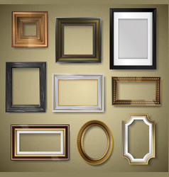 Retro vintage art photo picture frames vector
