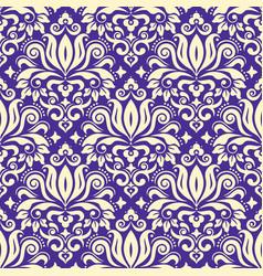 royal damask fabric seamless pattern vector image