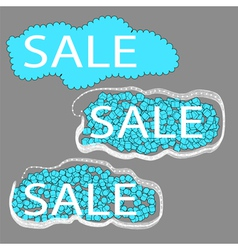 sale set of three cloud tags vector image