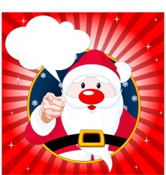 santa claus pointing vector image