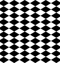 Seamless harlequin pattern-black and white vector