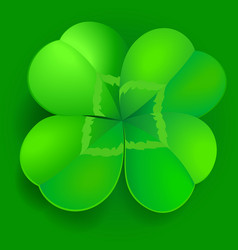 shamrock trefoil or clover leaf irish symbol vector image
