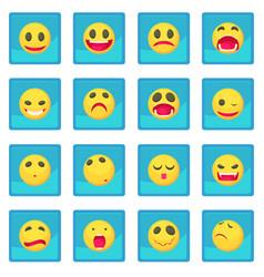 Smile icon blue app vector
