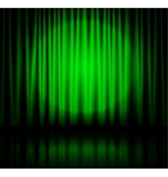 Spotlight on green stage curtain vector image