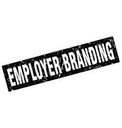 Square grunge black employer branding stamp vector