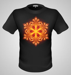 T shirts Black Fire Print man 12 vector